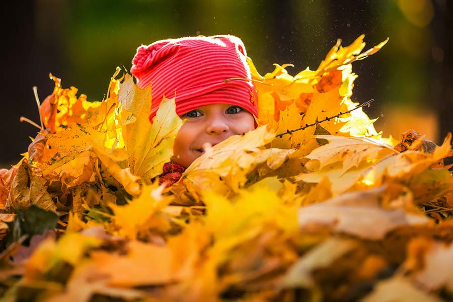 Come vestire i neonati in autunno