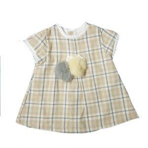 Vestitino Cotone Luglio Quadrettato Moro – Lu731