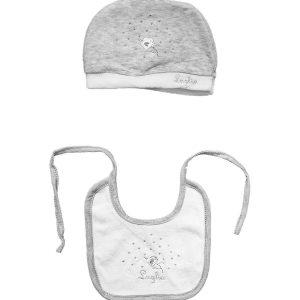 Cappello più bavetta in ciniglia grigio Luglio