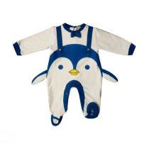 Tutina Ciniglia Bianca E Blu Luglio Con Pinguino – Lu702