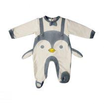 Tutina Ciniglia Bianca E Grigia Luglio Con Pinguino – Lu702