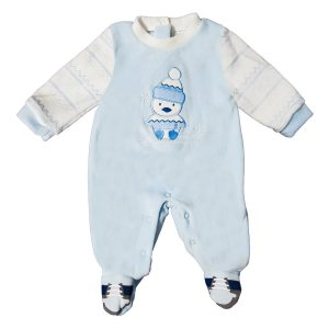 Tutina Ciniglia Luglio Panna Blu Con Pinguino Lu710