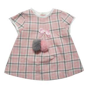 Vestitino Cotone Luglio Quadrettato Rosa – Lu731
