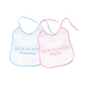 Bavetta neonato personalizzabile Luglio