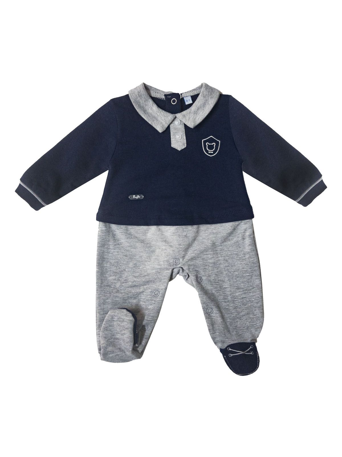 la migliore vendita rivenditore online alta moda Tutina per neonata blu in cotone felpato Luglio | Spio Kids