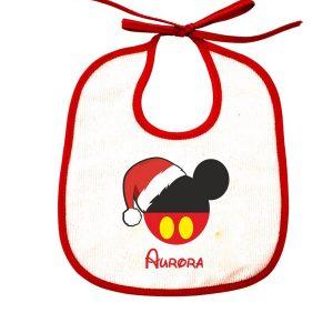 Bavetta femminuccia natalizia personalizzabile