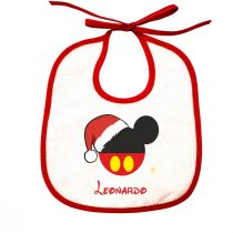 bavetta maschietto natalizia personalizzata