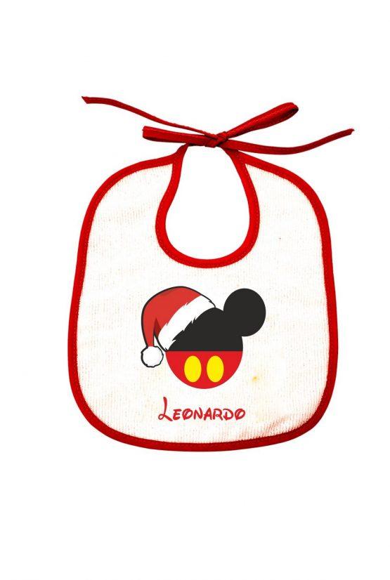 Bavetta maschietto natalizia personalizzabile