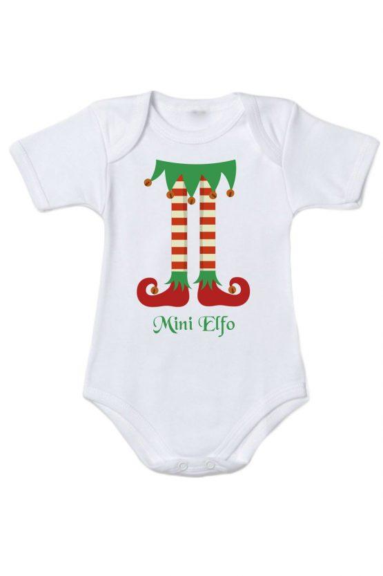 Body maschietto con gambe da elfo stampate