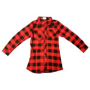 Camicia Rossa E Nera A Quadri Rbf.Rm8542