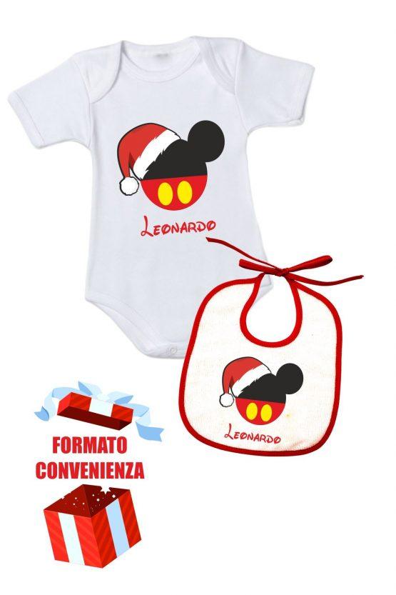 Formato convenienza natalizio body + bavetta personalizzata