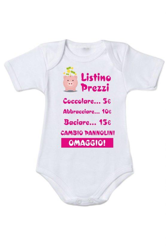 Body neonata con listino coccole