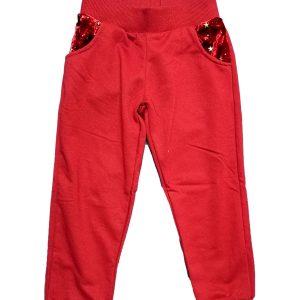 Pantatuta Rosso Con Tasche Stellate Rbf.C1452