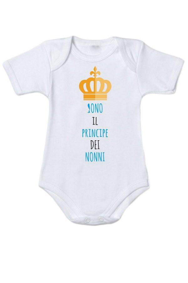 """Body con la scritta """"Sono il principe dei nonni"""""""