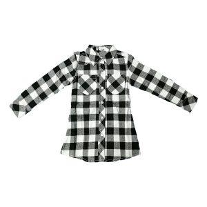 Camicia A Quadri Bianco E Nera Rbf.Rm8542