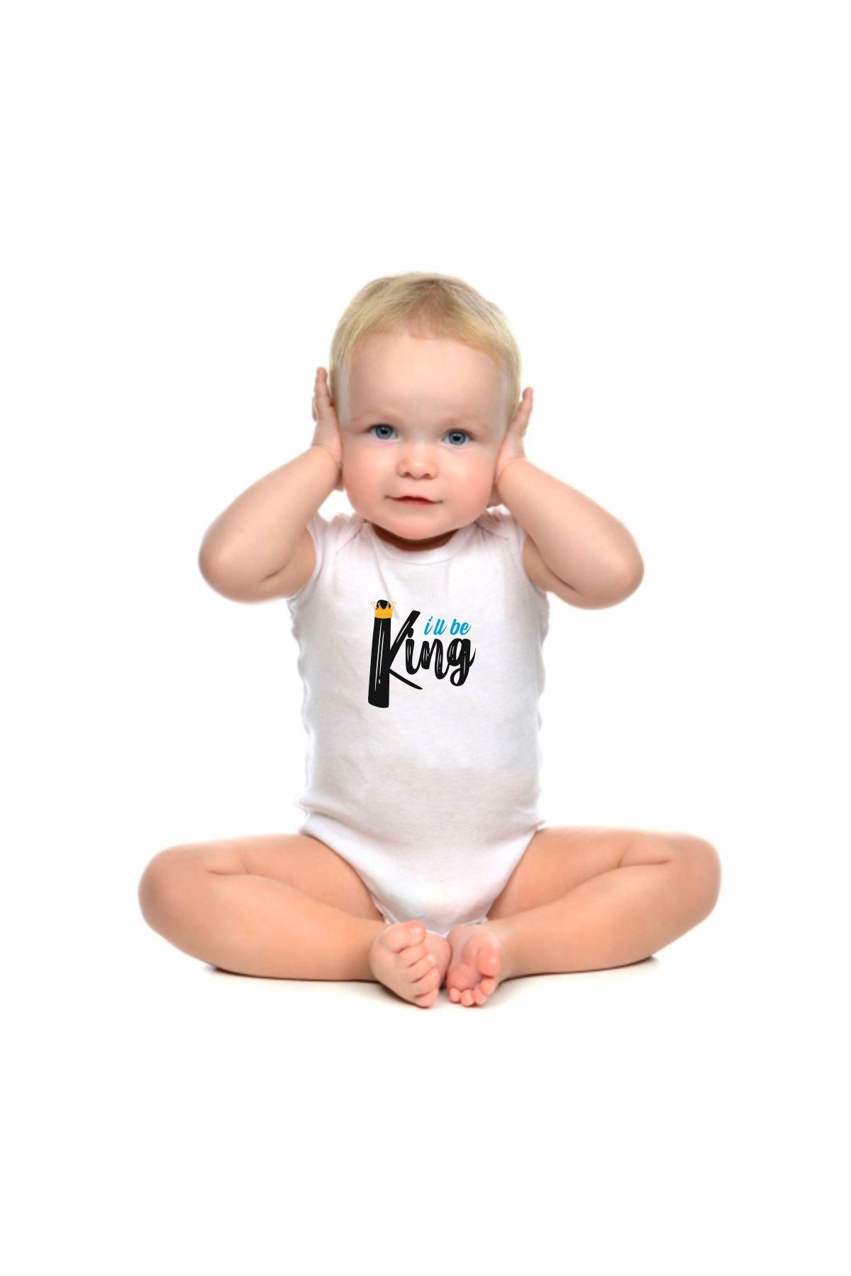 Body maschietto personalizzato scritta king