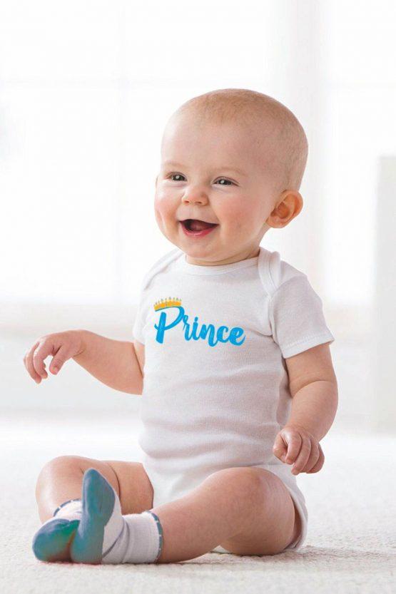 """Body maschietto con simpatica stampa con scritto """"Prince"""""""
