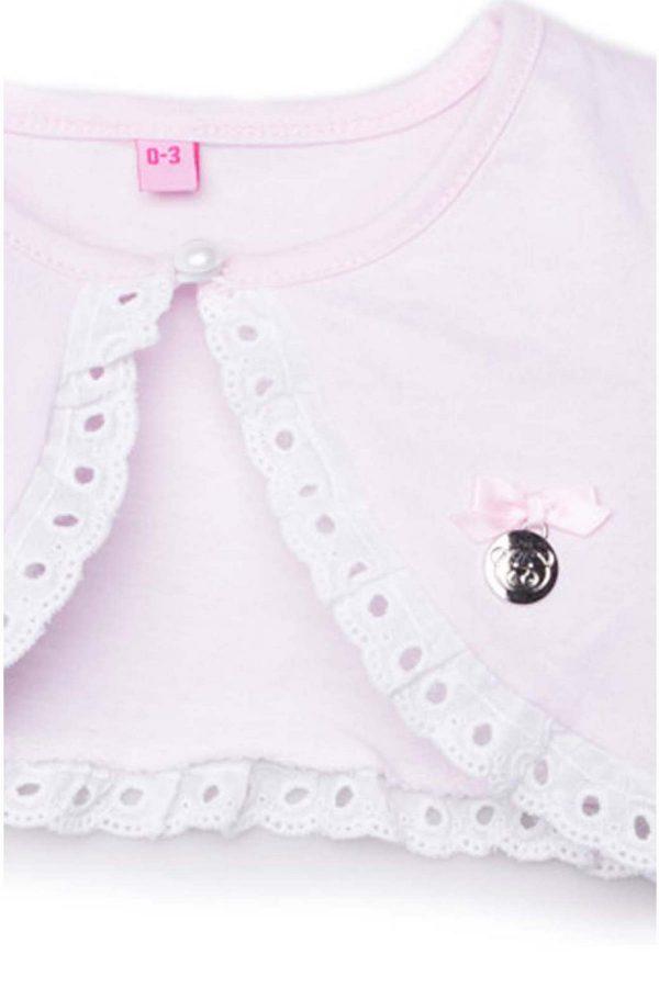 dettaglio cardigan luglio abbigliamento filo rosa tinta unita