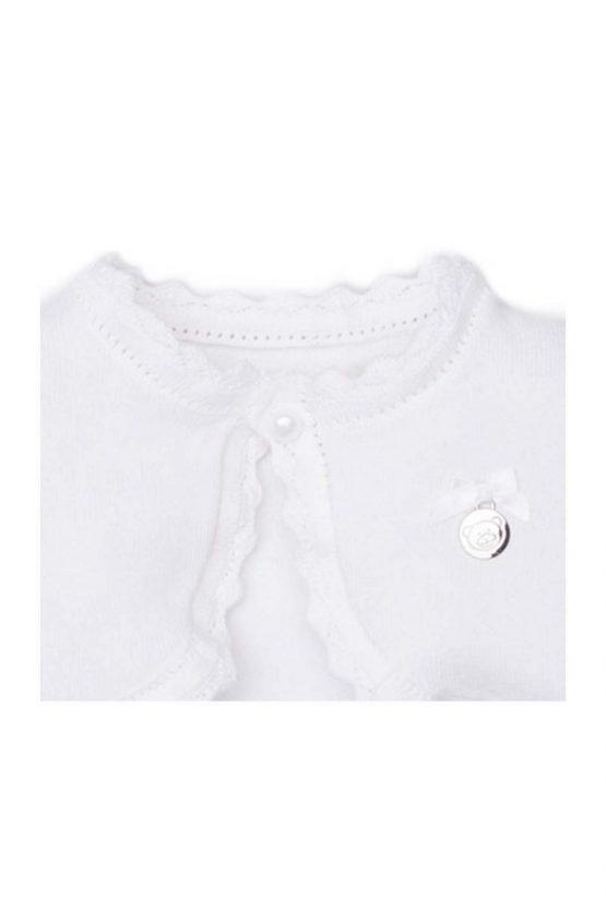 dettaglio cardigan femminuccia luglio abbigliamento filo bianco
