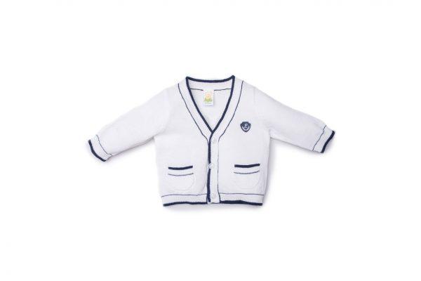 cardigan luglio abbigliamento bicolore bianco blu