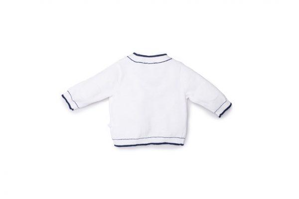 cardigan unisex luglio abbigliamento bianco blu