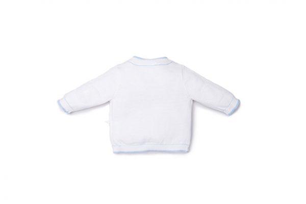 retro cardigan luglio abbigliamento bianco con inserti cielo