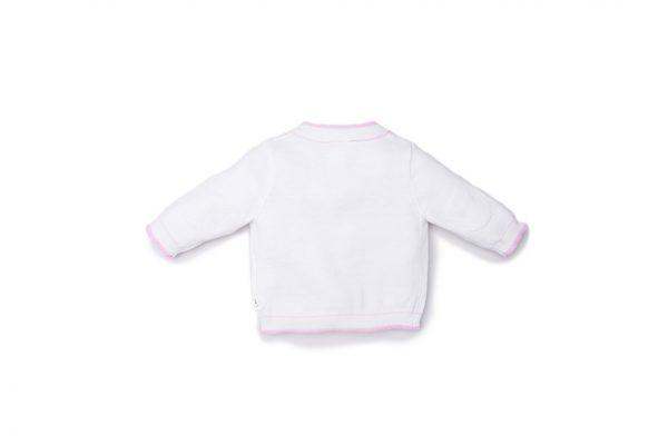 cardigan luglio abbigliamento bicolore bianco rosa