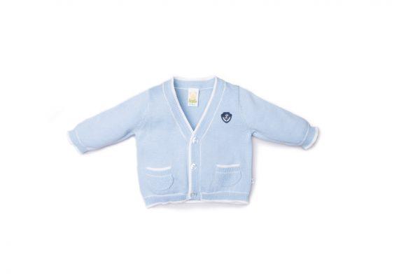 cardigan maschietto luglio abbigliamento cielo inserti bianchi