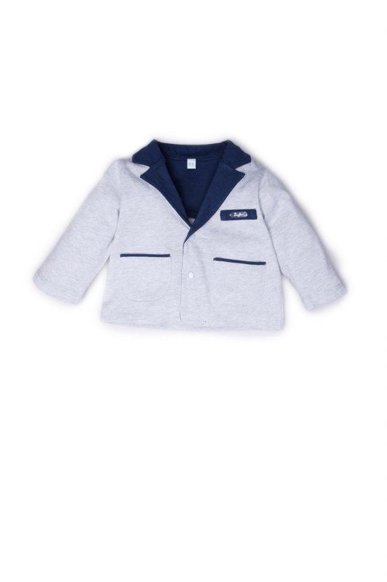 Giacca Maschietto Luglio In Cotone Bicolore Grigia E Blu Lu763