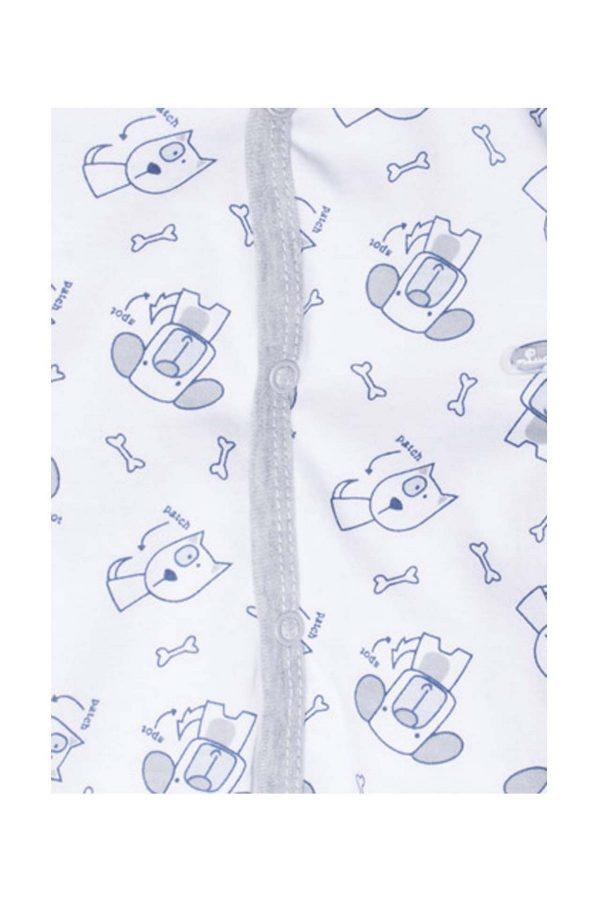 tutina luglio abbigliamento unisex bicolore bianco grigio