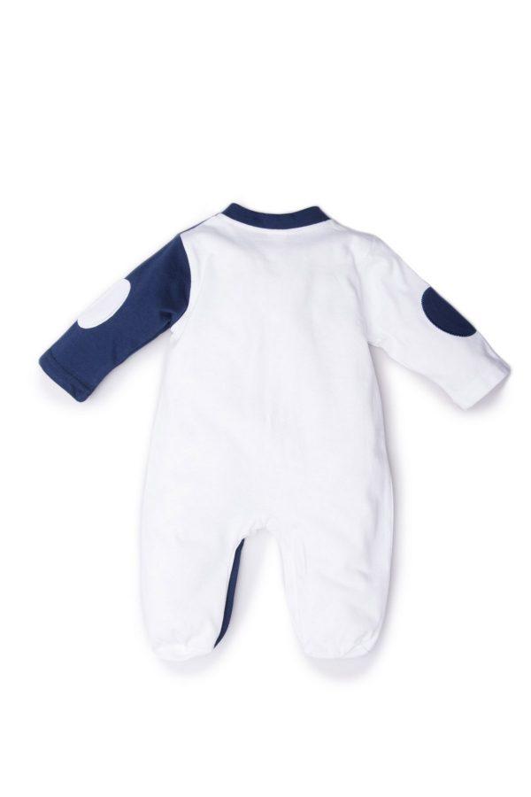 tutina luglio abbigliamento bicolore bianco blu