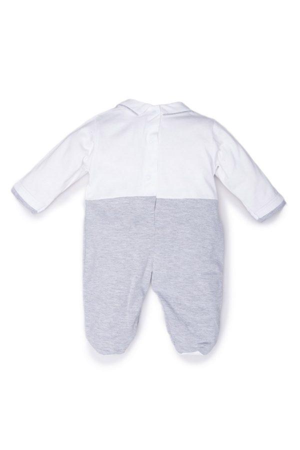 Retro tutina luglio abbigliamento bicolore bianco grigio