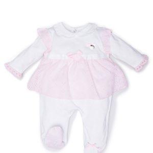 tutina femminuccia neonata luglio abbigliamento finta fonna pizzo