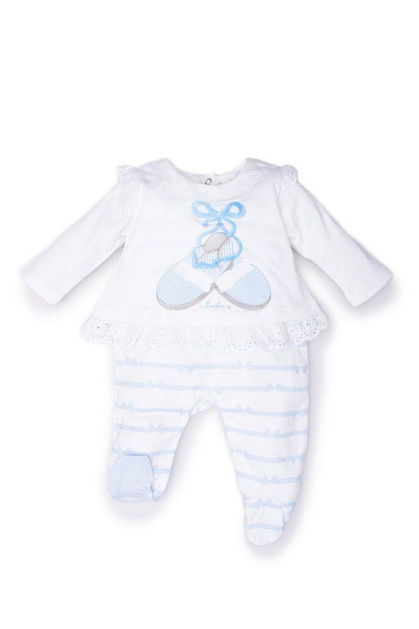 tutina neonata luglio abbigliamento bianco cielo