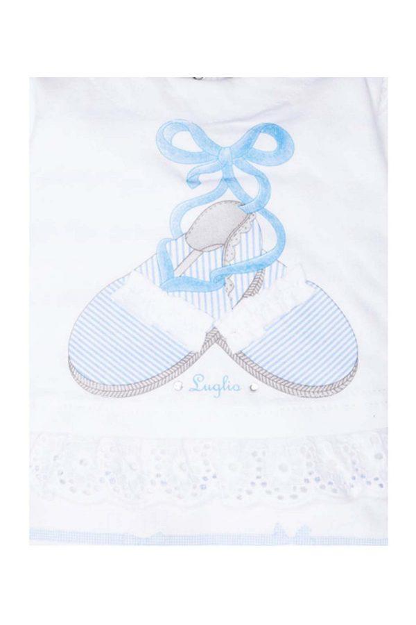 tutina femminuccia luglio abbigliamento scarpine ricamate