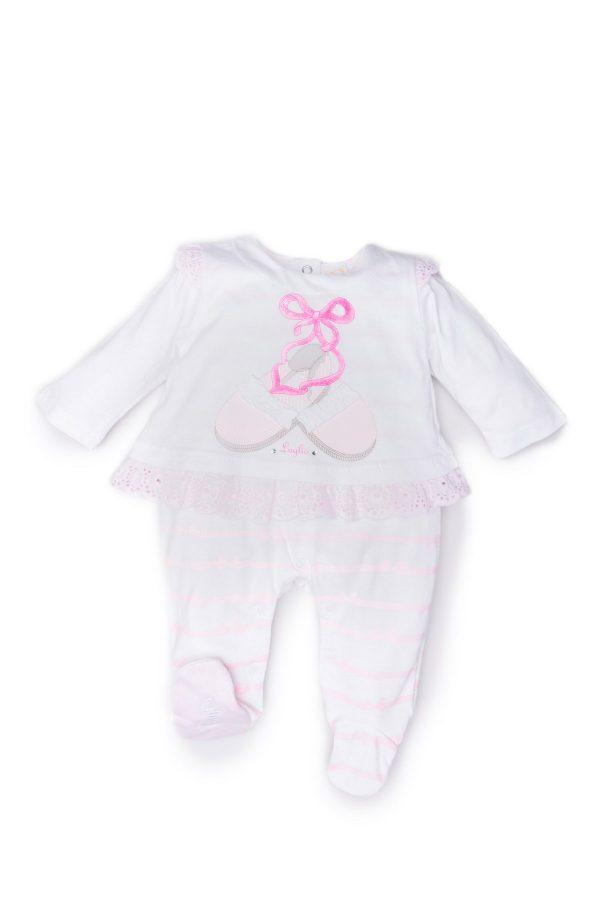 tutina femmimnuccia luglio abbigliamento bianco rosa