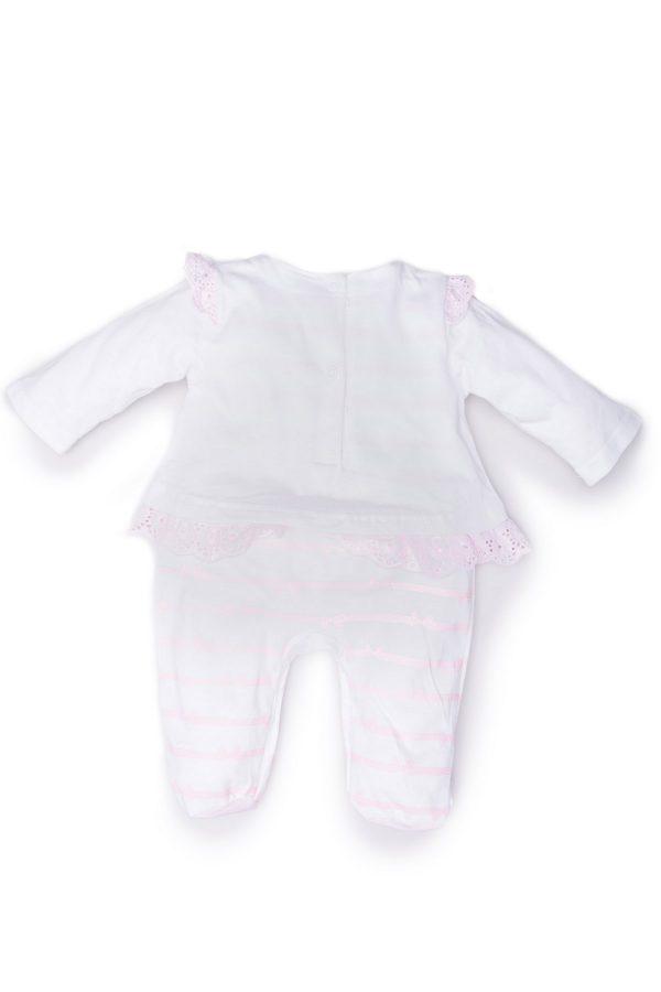 Retro tutina femminuccia luglio abbigliamento bicolore rosa e bianco
