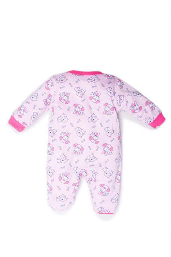 retro tutina femminuccia luglio abbigliamento rosa fuxia pattern cagnolini
