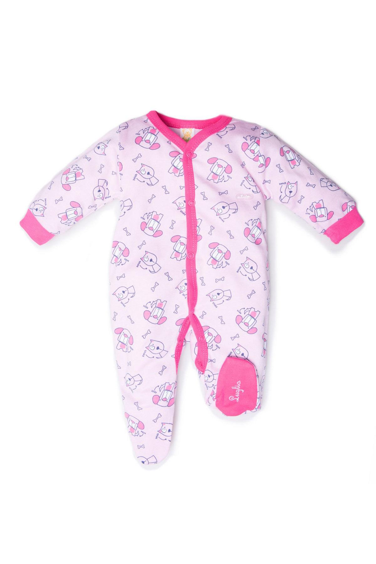 tutina neonata luglio abbigliamento bicolore rosa fuxia