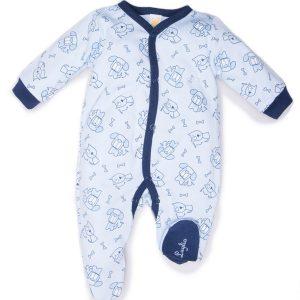 tutina maschietto luglio abbigliamento bicolore bianco blu
