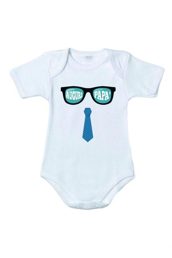 Body festa del papà con occhiali e cravatta