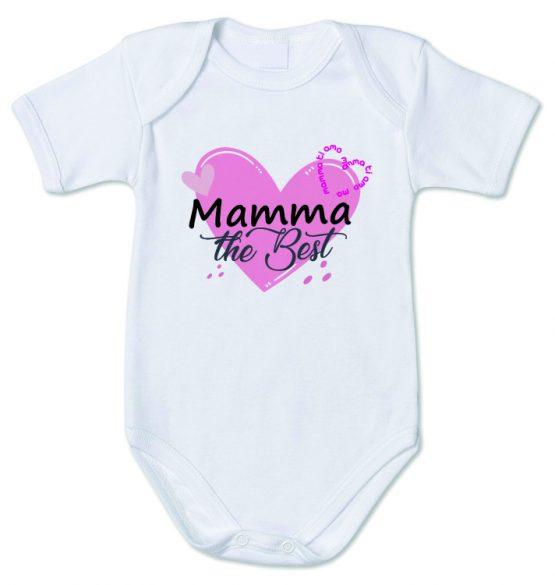 """Body con la scritta """"Mamma the Best"""""""