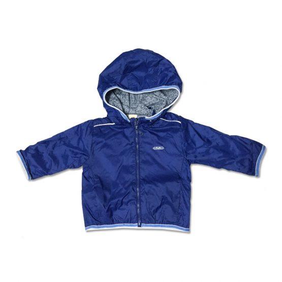 Giubbino Maschietto Bicolore Blu Con Interno Grigio Luglio Lu768