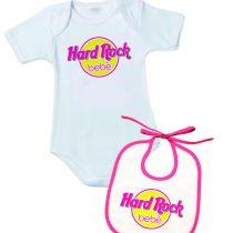 """Body+Bavetto con la scritta """"hard rock bebè"""" per bimba"""