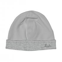 Cappello Maschietto In Ciniglia Grigio Con Fascia In Pied De Poule Luglio Lu832