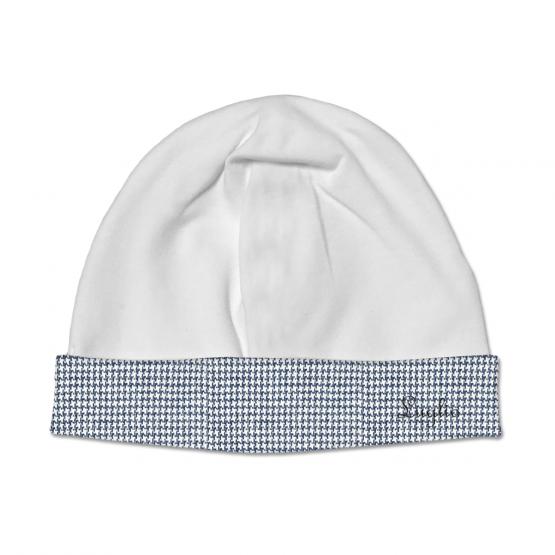 Cappello Maschietto In Ciniglia Panna Con Fascia In Pied De Poule Luglio Lu832
