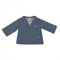 Giacca Maschietto In Cotone Felpato Tinta Unita Blu Luglio Lu830