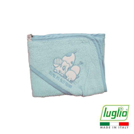 Accappatoio per neonato con ricamo Luglio